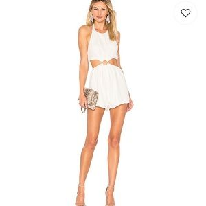 Eliana O Ring Cut Out Romper (superdown)
